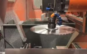 5 axis CNC with added saw action